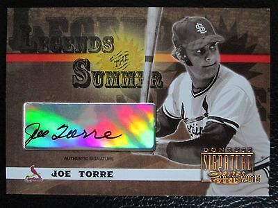 JOE TORRE 2003 DONRUSS LEGENDS OF SUMMER AUTOGRAPH VERY RARE Yankees - $69.78