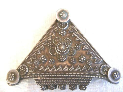 Antique Ethnic Tribal Old Silver Rajasthan India Pendant