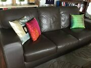 Sofa from Plush, Leather 3 seater Northcote Darebin Area Preview
