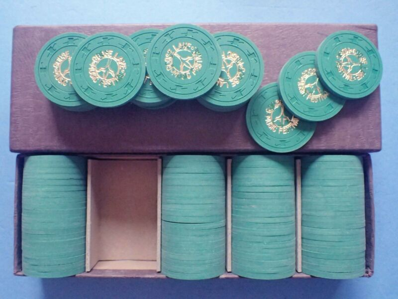 VINTAGE 100 GOOSE LAKE MUSIC FESTIVAL TICKETS TOPHAT & CANE CLAY POKER CHIPS