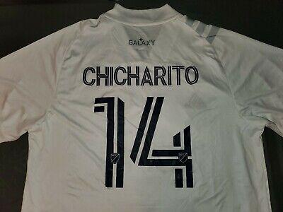 LA Galaxy Chicharito #14 Adidas Men's Home Jersey White 2020