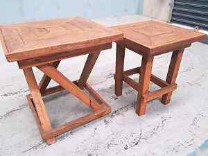 Recycled Timber Side Tables Penrith Penrith Area Preview