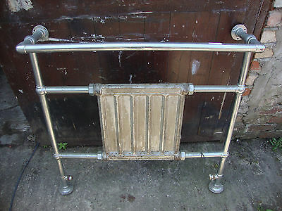 Reclaimed chrome towel rail with radiator