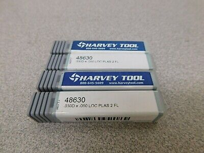 Harvey Tool Solid Carbide Square End Mill 4pk .030 2 Fl 48630