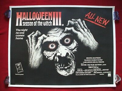 Halloween 3 Movie 1982 (HALLOWEEN 3 III 1982 ORIGINAL MOVIE POSTER SEASON OF THE WITCH RARE BRITISH)