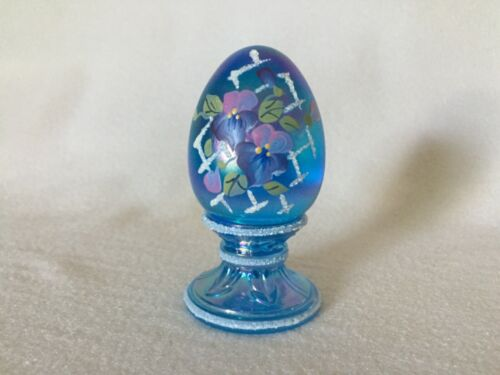 Fenton Carnival Glass Floral Limited Edition EGG Signed B Montgomery