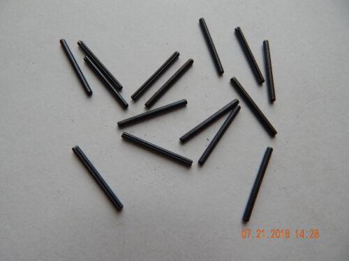 """ROLL PINS   5/64 x 1""""  BLACK CARBON STEEL   15 PCS. NEW"""