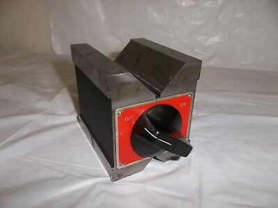 Starrett No. 566 Dual Vee Magnetic V-block 1 44mm Capacity I Machinist Tool