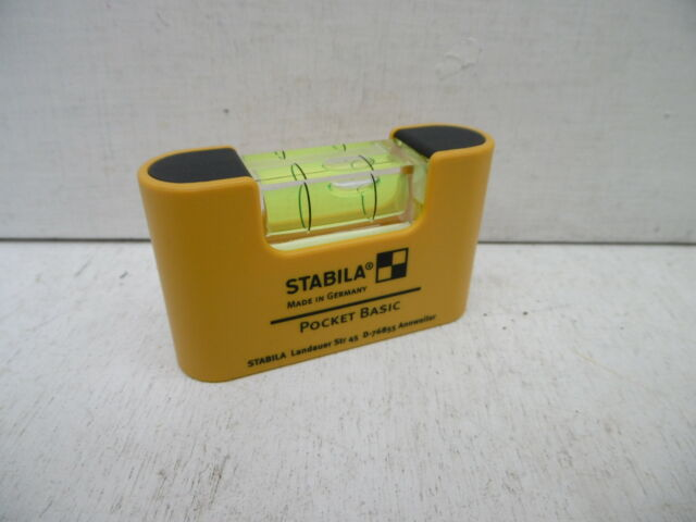 STABILA BASIC NON MAGNETIC POCKET SPIRIT LEVEL 17773