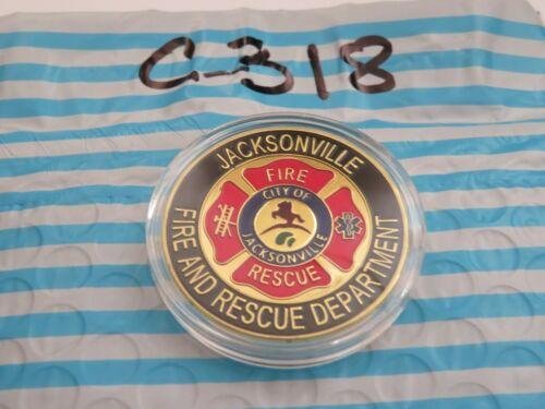 JACKSONVILLE FIRE & RESCUE FIRE DEPARTMEMT CHALLENGE COIN C318
