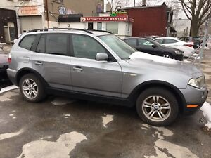 "BMW X3 2007 167xxx Kms ""AS IS"" runs but needs work. $5500 OBO"