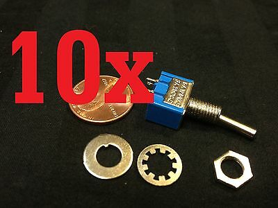 10x On-off Toggle Switch Spst Mts-101 6mm 14 Sub Miniature On Off 10pcs B12