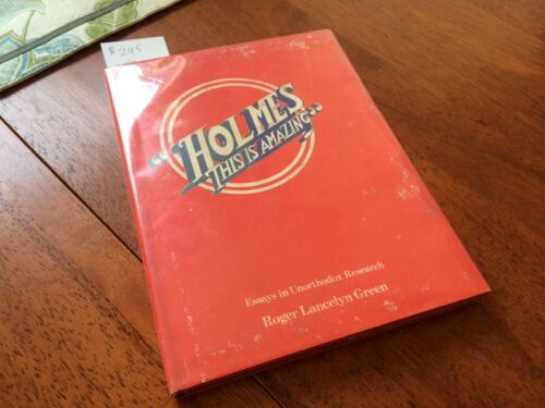 SIGNED! Holmes This Is Amazing - Roger Lancelyn Green - 1975  - Benefits Charity