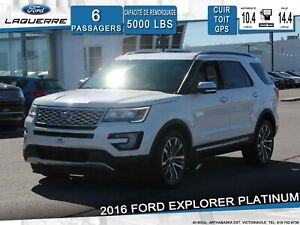 2016 Ford Explorer PLATINUM**AWD*6 PLACES*CUIR*TOIT*GPS*CAMERA**