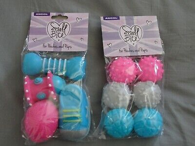 PUPPY / XS DOG TOYS: Ancol Small Bite Toys. 1 x Toy Selection. 1 x Vinyl Balls