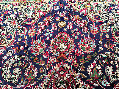7x10 HAND KNOTTED WOVEN PERSIAN RUG IRAN BLUE WOOL 7 x 10 antique area rugs 6 9