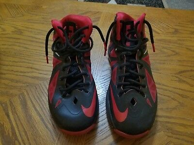 c568f9cb491 Nike Lebron X 10 Black University Red 541100 006 Heat Away SZ 9 BRED