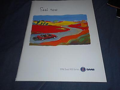 1996 SAAB 900 USA  Brochure Catalog Prospekt