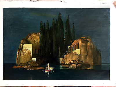 Ölbilder Ölgemälde Gemälde  Die Toteninsel von Arnold Böcklin  60cm x 90 cm.