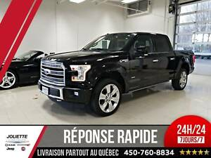 2016 Ford F-150 limited, 4X4, CUIR, TOIT, SUPERCREW, NAV.