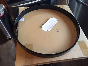 """Two 18"""" Gibraltar Black Lacquered  Maple Bass Drum Hoops"""