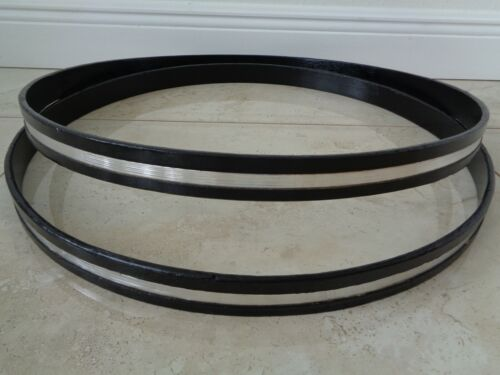 "1976 VINTAGE ROGERS 2  22"" x 1-1/2"" deep BASS DRUM WOODEN RIMS HOOPS MADE IN USA"