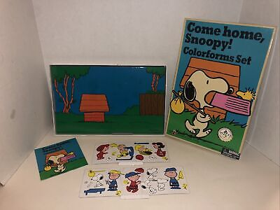 Come Home Snoopy! Colorforms Set Charlie Brown 2018 Reproduction of 1972 Set