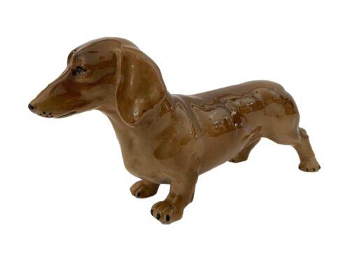 Vtg English  Porcelain Dachshunds Dog Sculpture