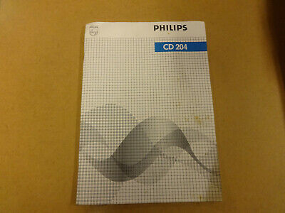SERVICE MANUAL PHILIPS CD 204
