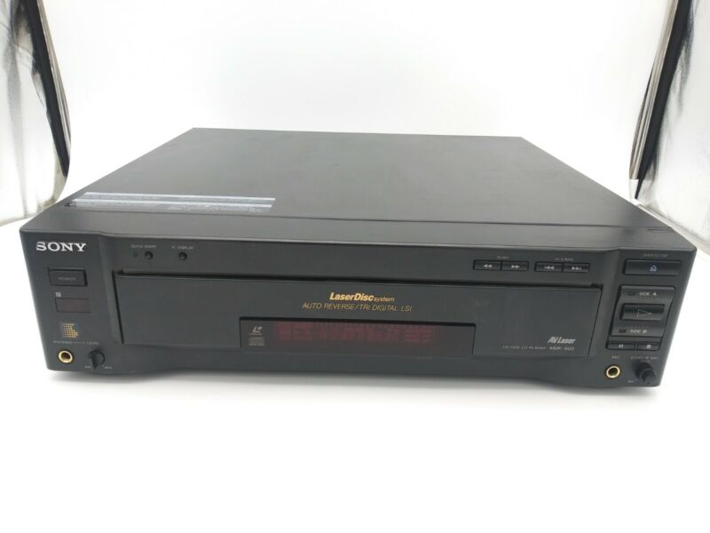 Sony MDP-600 LaserDisc CDV  Player With Auto Reverse Tested And Working