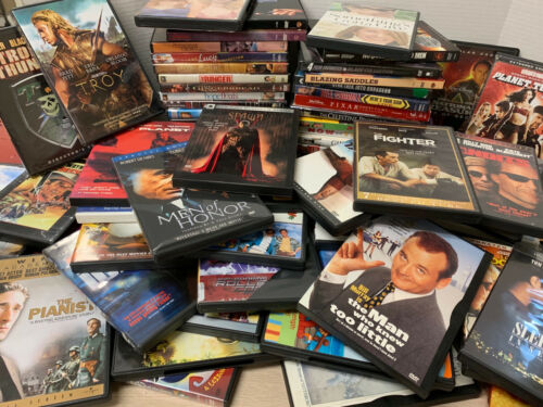 72 Lot Bulk DVDs Movies Action Romance Comedy Suspense and More!