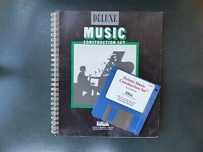 VINTAGE APPLE MAC DELUXE MUSIC CONSTRUCTION SET COMPUTER PROGRAM MANUAL + DISC