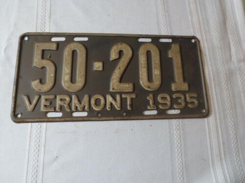 1935 VERMONT LICENSE PLATE 50-201