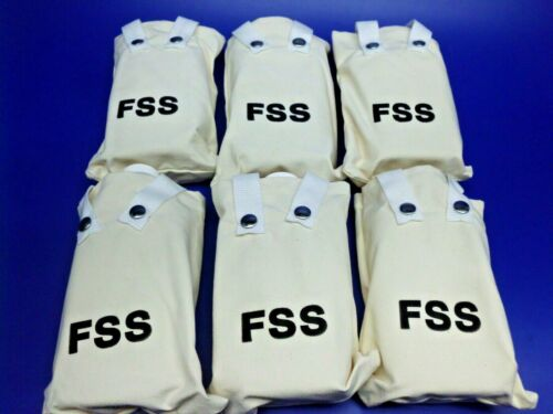 lot of 6 FSS Water Canteens Canvas Bag & PLASTIC BOTTLES Wildland Forest Service
