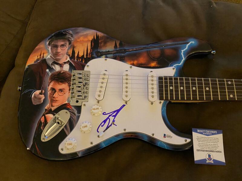 Daniel Radcliffe Harry Potter Signed Electric Custom Guitar Beckett COA