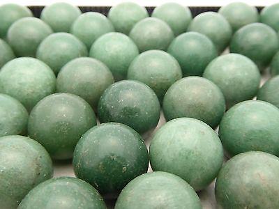 4 pc Vintage 20mm Natural Aventurine Round Ball Marble Gemstone Healing Sphere