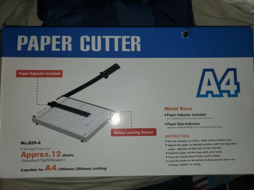 Heavy Duty Paper Cutter A4 Paper Trimmer White Photo Guillot