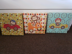 3x monkey wall hangings Bentley Park Cairns City Preview