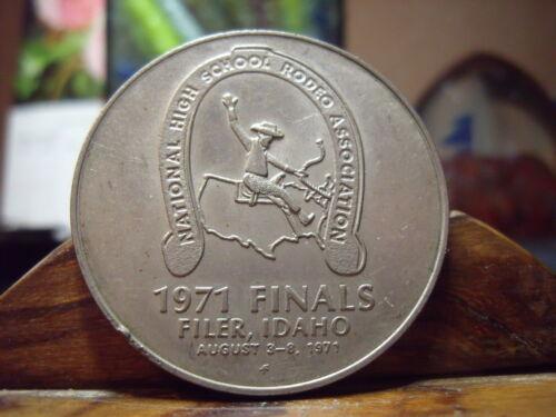 1971 FILER, IDAHO MEDAL IDAHO THE GEM STATE (NATIONAL HIGHSCHOOL RODEO HORSESHOE
