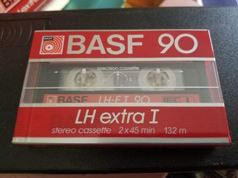 Basf 90 cassette tape WIDE WINDOW LH EI NEW SEALED