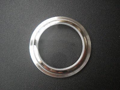 STEEL SEE THROUGH DISPLAY CASE BACK FOR VINTAGE 36MM ROLEX DATEJUST OR EXPLORER