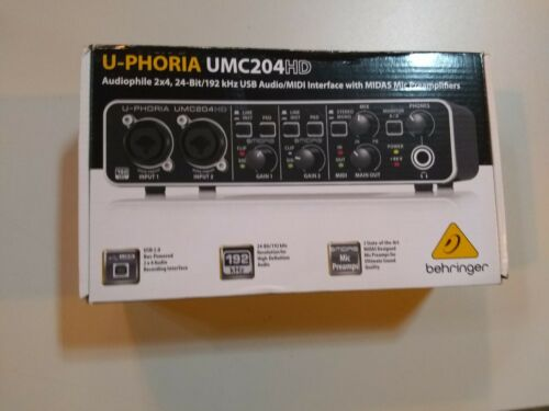 Behringer UMC204HD U-phoria USB Audio Interface