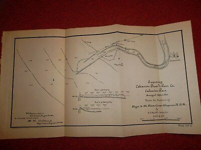 3 MAPS of LOUISIANA BAYOUS  -  1900 LOT  -  CAMERON
