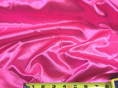 Discount Fabric Satin Shocking Pink 65 inches wide -