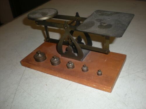 Unbranded Balance Scale with Unmarked Weights
