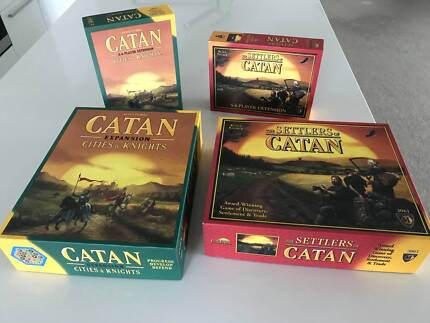 Settlers of Catan Board Game with 3 Expansions Knights 6 players