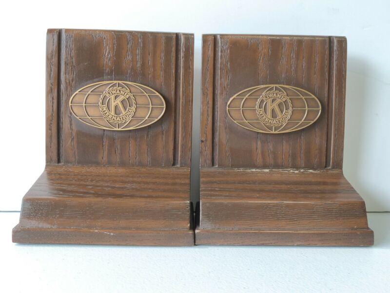 Kiwanis International Emblem Wood Plaque Vintage Lot of 2 G1