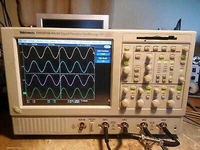 Tektronix Tds5054b 500mhz 5gss Oscilloscope 3m Sm Usb Pwr Jit 18 Ssd Can Lin