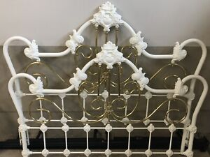 Girls queen wrought iron bed and bed frame
