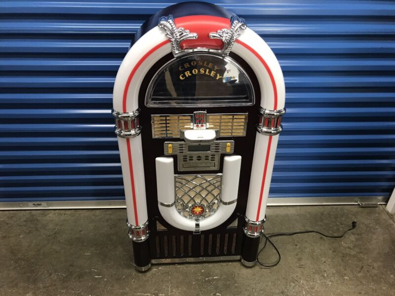 Crosley Jukebox CR12-2 Full Size - iPod/iPhone dock, CD player AM/FM